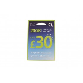 O2 £30 Big Bundle Triple Pre Pay SIM Card