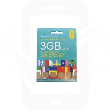 EE £15 International Pre Pay SIM Card