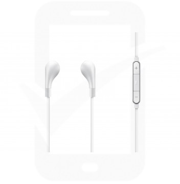 Official Samsung EO-IG900 Level In-Ear Headphones with Built-In Remote Control and Mic - White
