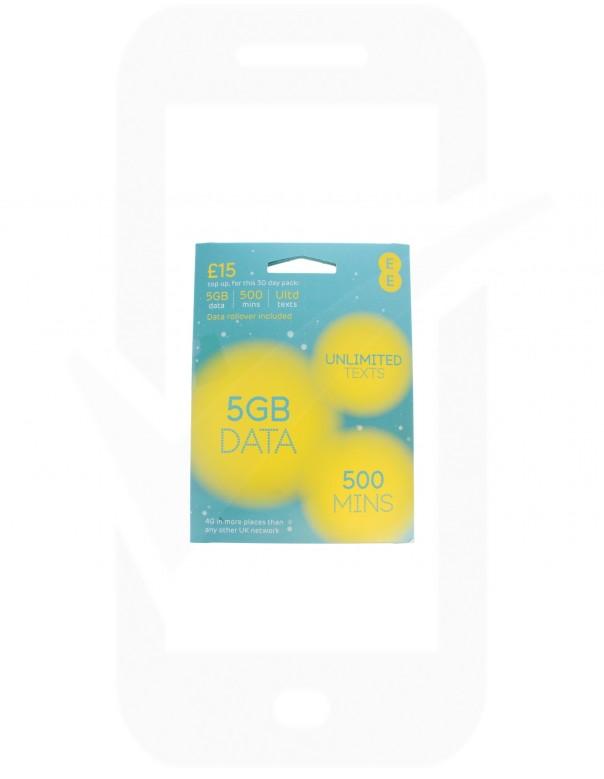 EE £15 Triple Pre Pay SIM Card