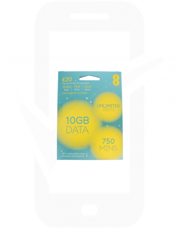 EE £20 Triple Pre Pay SIM Card