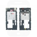 Genuine Sony C5302, C5303, C5306 Xperia SP Chassis / Middle Cover Red Ring - 1270-5024