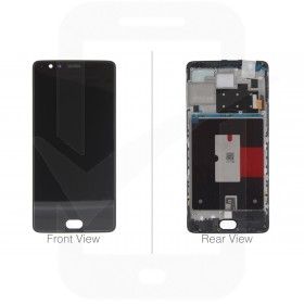Official OnePlus 3 A3000, OnePlus 3T A3003 Black LCD Screen & Digitizer - 0404000802