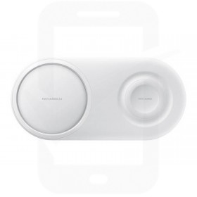 Official Samsung EP-P5200TWEGGB White Wireless Charger Duo Pad with Mains Charger - UK