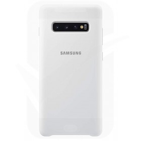 Official Samsung Galaxy S10 White Silicone Cover / Case - EF-PG973TWEGWW