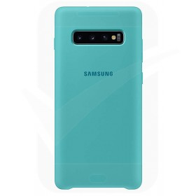 Official Samsung Galaxy S10 Plus Green Silicone Cover / Case - EF-PG975TGEGWW