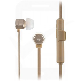 Official KitSound Hive Buds Wireless Bluetooth In-Ear Headphones for Smartphones and Tablets - Gold