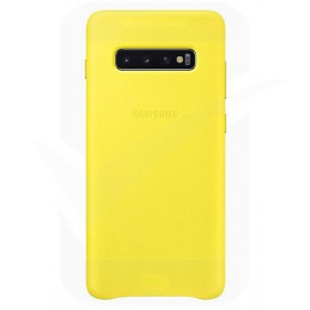 Official Samsung Galaxy S10 Yellow Leather Protective Cover / Case - EF-VG973LYEGWW