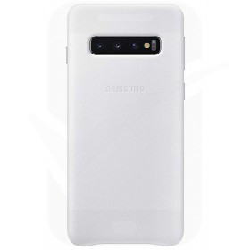 Official Samsung Galaxy S10 White Leather Protective Cover / Case - EF-VG973LWEGWW