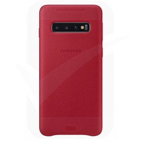 Official Samsung Galaxy S10 Plus Red Leather Protective Cover / Case - EF-VG975LREGWW