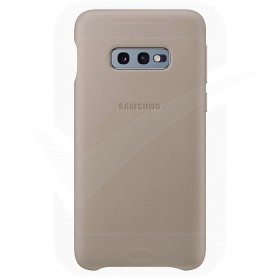 Official Samsung Galaxy S10e Grey Leather Protective Cover / Case - EF-VG970LJEGWW