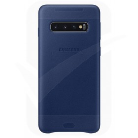 Official Samsung Galaxy S10 Plus Navy Leather Protective Cover / Case - EF-VG975LNEGWW