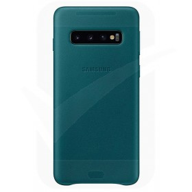 Official Samsung Galaxy S10 Plus Green Leather Protective Cover / Case - EF-VG975LGEGWW