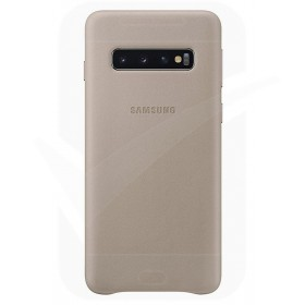 Official Samsung Galaxy S10 Plus Grey Leather Protective Cover / Case - EF-VG975LJEGWW