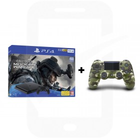 Sony PlayStation 4 Slim 500GB Console With Call of Duty®: Modern Warfare® + Additional Green Camouflage Dualshock 4 Controller Promotion