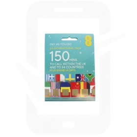 EE £10 International Pre Pay SIM Card