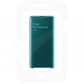 Official Samsung Galaxy S10 Green Clear View Cover  / Case - EF-ZG973CGEGWW