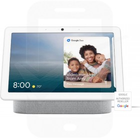"""Google Nest Hub Max with Google Assistant - 10"""" Screen - Chalk"""