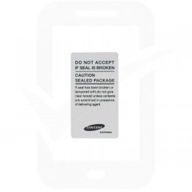 Genuine Samsung White Main Label Box Outer Seal - GH68-34364A