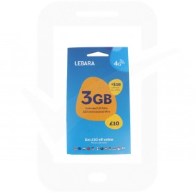 Lebara Triple Pre Pay SIM Card
