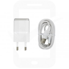 Genuine LG MCS-01ER White EU USB Mains Charging Adapter & Data Lead