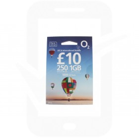 O2 £10 International Triple Pre Pay SIM Card