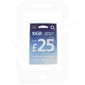 O2 £25 Big Bundle Triple Pre Pay SIM Card