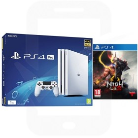 Sony PlayStation 4 Pro 1TB White Console With Nioh 2