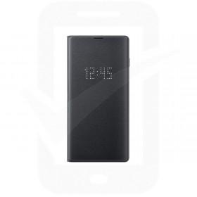 Official Samsung Galaxy S10 Black LED Flip Wallet / Case - EF-NG973PBEGWW