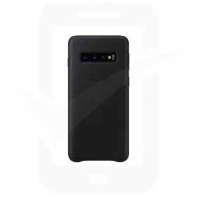 Official Samsung Galaxy S10 Plus Black Leather Protective Cover / Case - EF-VG975LBEGWW