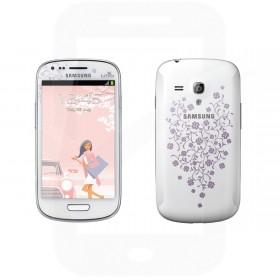 Samsung Galaxy S3 Mini SM-I8190N 8GB White La Fleur Sim Free / Unlocked Mobile Phone - B-Grade