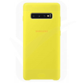 Official Samsung Galaxy S10 Plus Yellow Silicone Cover / Case - EF-PG975TYEGWW
