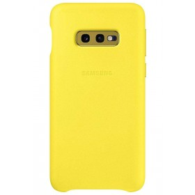 Official Samsung Galaxy S10e Yellow Leather Protective Cover / Case - EF-VG970LYEGWW