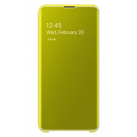 Official Samsung Galaxy S10e Yellow Clear View Cover  / Case - EF-ZG970CYEGWW