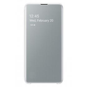Official Samsung Galaxy S10e White Clear View Cover  / Case - EF-ZG970CWEGWW