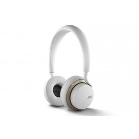 Official u-JAYS Wireless Bluetooth On Ear Headphones with 25hr Play Time & Touch Controls - White / Gold