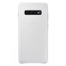 Official Samsung Galaxy S10 Plus White Leather Protective Cover / Case - EF-VG975LWEGWW