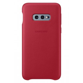 Official Samsung Galaxy S10e Red Leather Protective Cover / Case - EF-VG970LREGWW