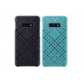 Official Samsung Galaxy S10e Black / Green Pattern Cover  / Case - EF-XG970CBEGWW