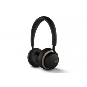 Official u-JAYS Wireless Bluetooth On Ear Headphones with 25hr Play Time & Touch Controls - Black / Gold