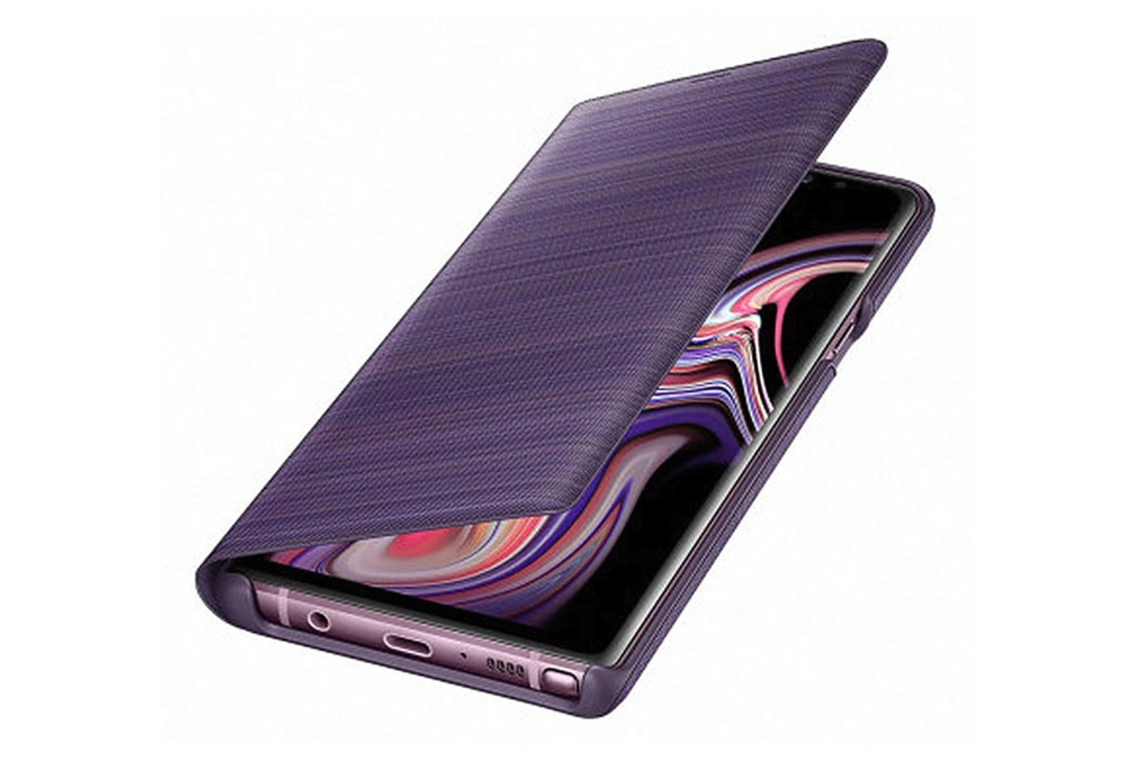 online retailer 4c294 95c7a Details about Official Samsung Galaxy Note 9 Lavender LED Flip Wallet /  Case - EF-NN960PVEGWW