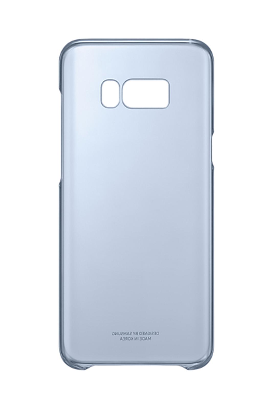 big sale e514e e35b4 Details about Official Samsung Galaxy S8+ Blue Clear Cover - EF-QG955CLEGWW