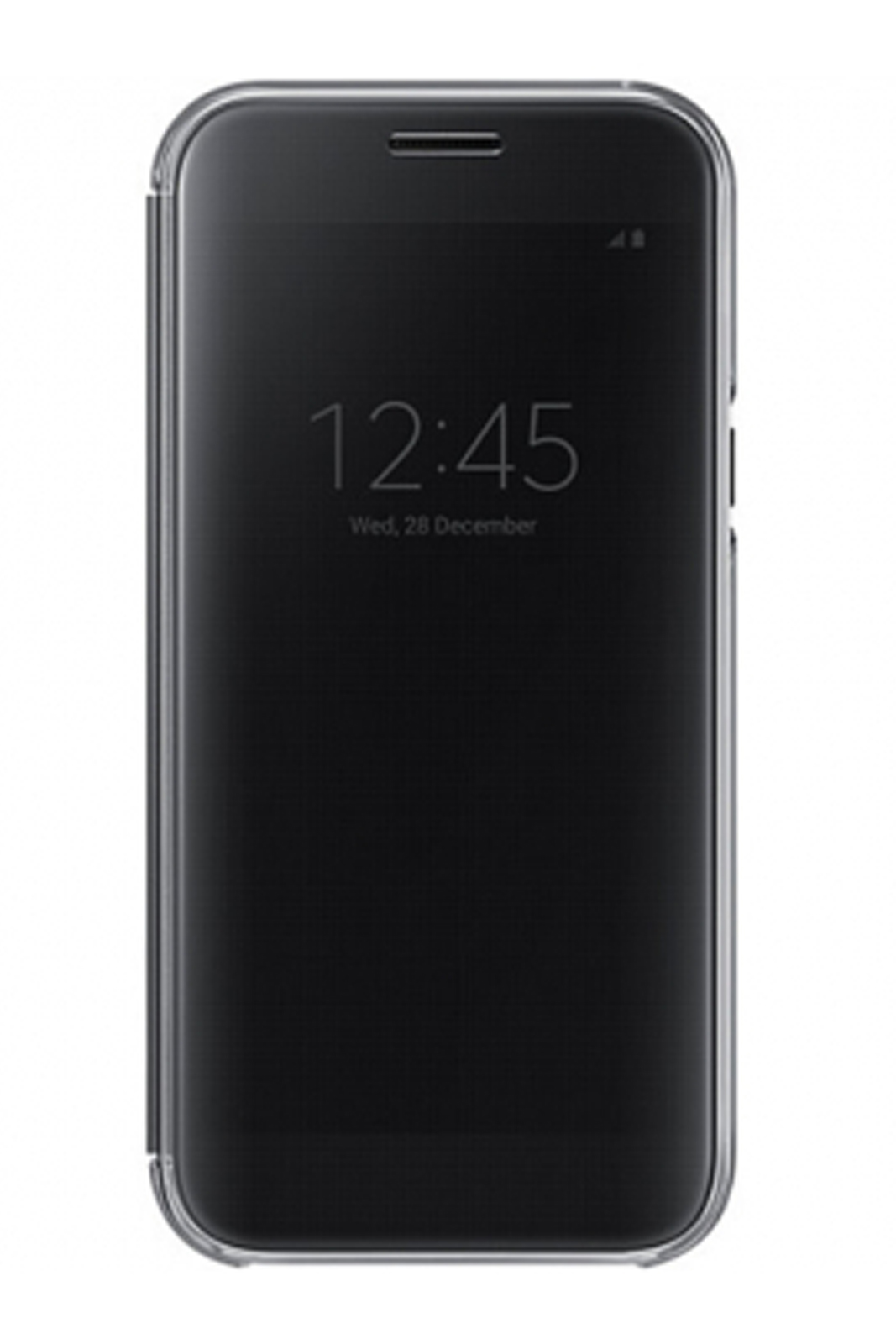 buy online 2e1bc 0f800 Details about Official Samsung Galaxy A5 2017 SM-A520 Black Clear View  Cover / Case - EF-ZA520