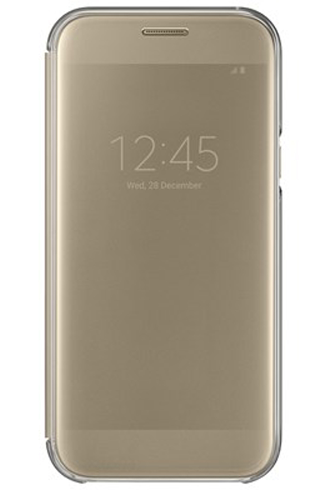 new arrival e8dd5 0cd72 Details about Official Samsung Galaxy A5 2017 SM-A520 Gold Clear View Cover  / Case - EF-ZA520C