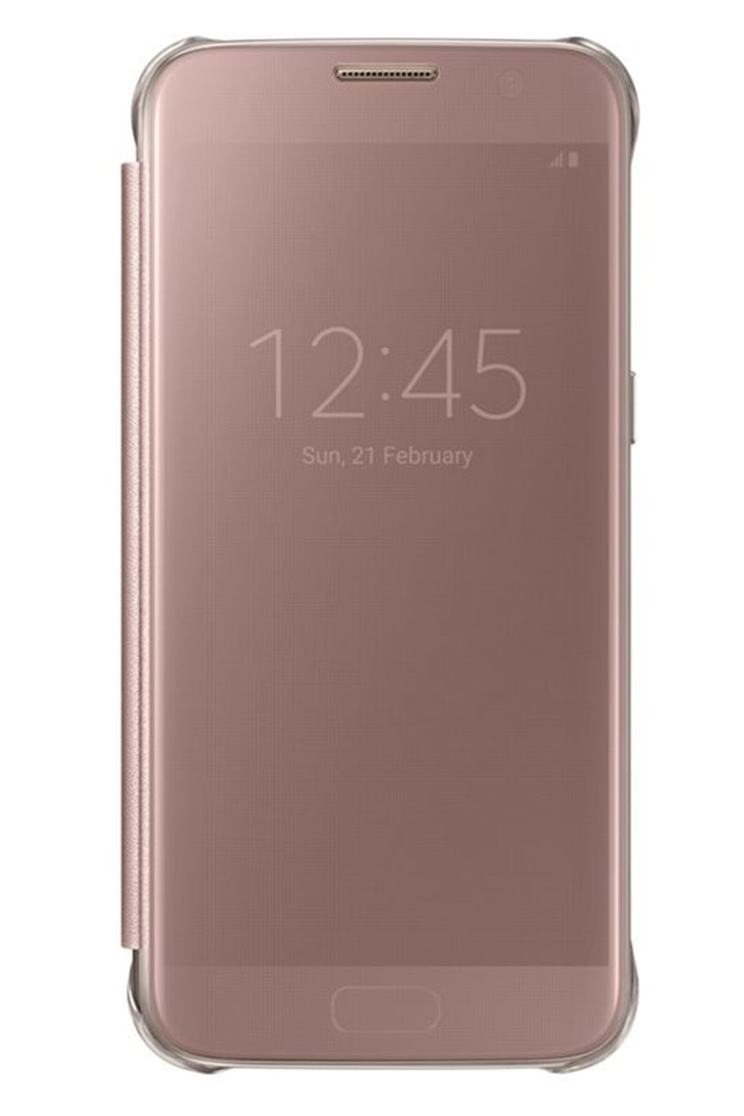 official samsung galaxy s7 rose gold clear view cover case ef zg930czegww. Black Bedroom Furniture Sets. Home Design Ideas