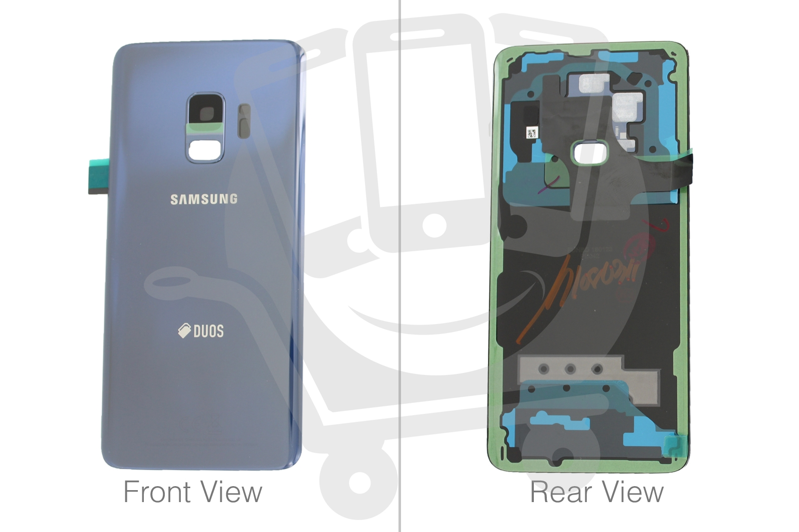 Details about Genuine Samsung Galaxy S9 Hybrid SM-G960 Coral Blue Rear /  Battery Cover - GH82-