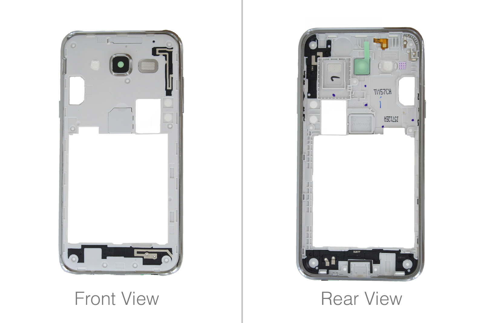 Details about Genuine Samsung Galaxy J5 SM-J500F White / Gold Chassis /  Middle Frame - GH98-37