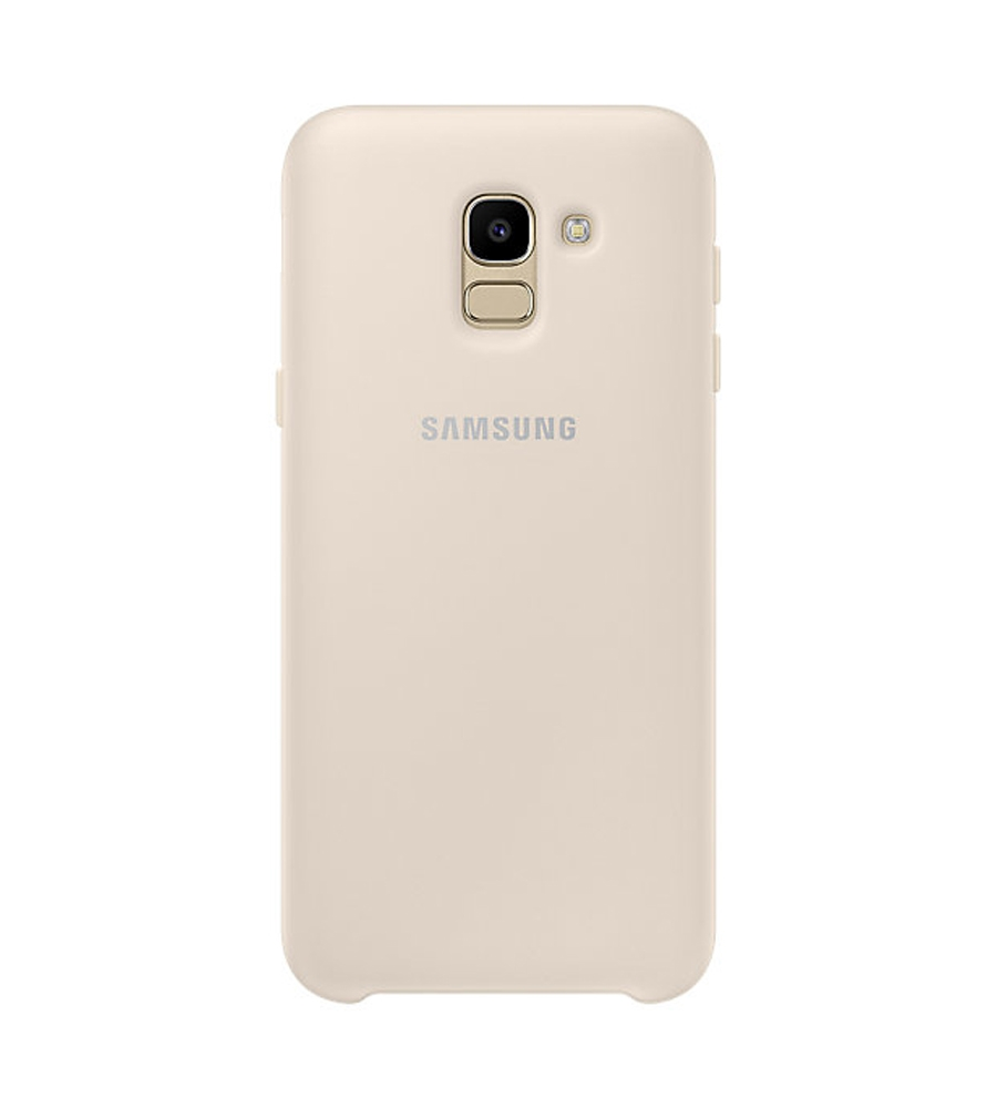 best service 16c48 ee448 Details about Official Samsung Galaxy J6 2018, SM-J600 Gold Dual Layer  Cover - EF-PJ600CFEGWW