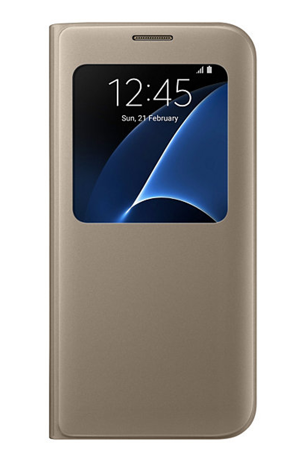 low priced 9f2b4 1fc20 Details about Official Samsung Galaxy S7 Edge Gold S View Cover / Case -  EF-CG935PFEGWW