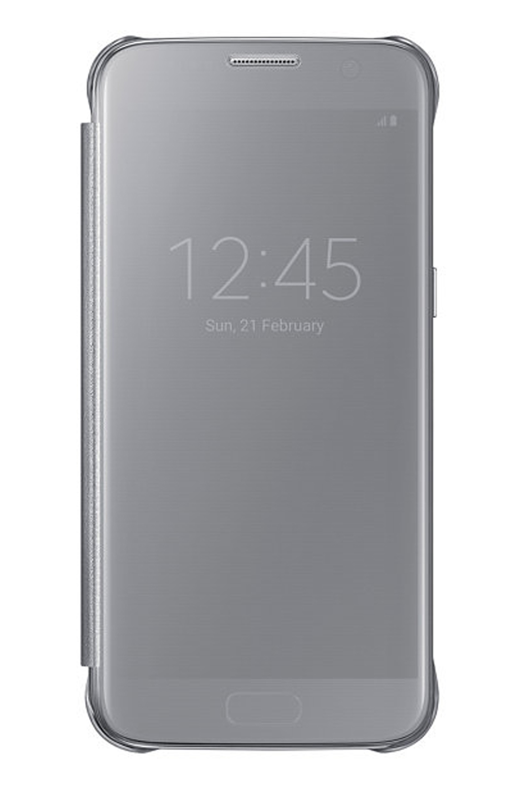 official samsung galaxy s7 led flip wallet cover silver offer
